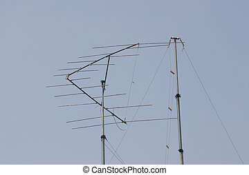 amateur radio aerials - two aerials