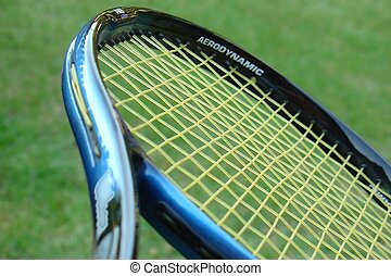 Tennis racket in close