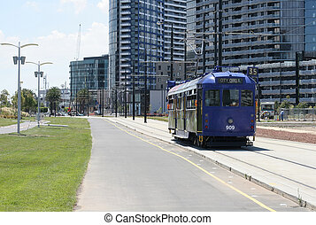Melbourne tram - Famost Melbournes City Circle tram...