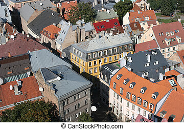 Roofs of the Old City Old City, Riga, Latvia View from St...