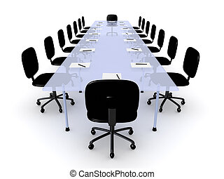 Conference Table - 3D Illustration