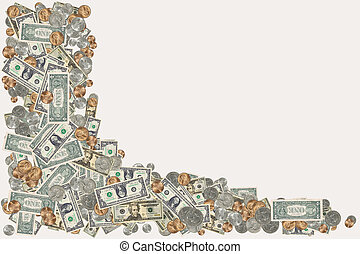 Money Border - Photo of Various Type of US Currency - Money...