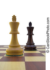 Chess pieces - white and black king