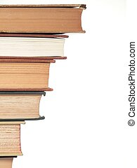 Books - a leaning stack of books