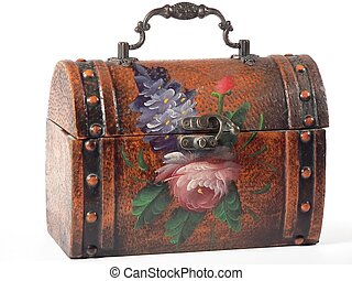 Lunch Box - a handpainted floral lunchbox