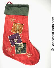 Stockings - a christmas stocking on white