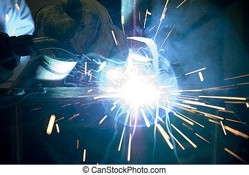"""Mig Welding 2 - Mig welding 1/2\\\"""" plate steel."""