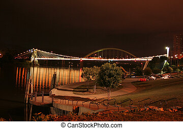 Suspension Bridge - The nearly 170 year old Wheeling...