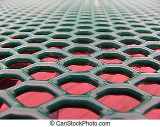 Honeycomb Tabletop Vanishing Point - Green honeycomb table...