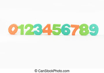 colorful numbers with white background