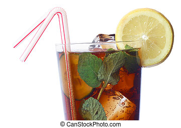 Mint Julep - Cola cocktail with lemon and mint