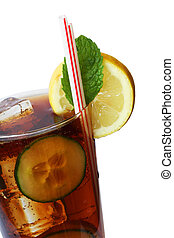 Cola Drink - Cola drink with garnish and straws