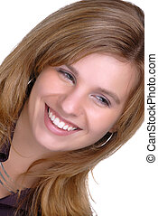 Beautiful Woman - Attractive Young Woman Smiling
