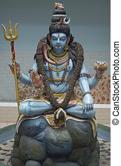 Shiva Statue - Close-up of a Shiva statue
