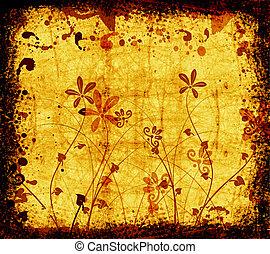 Floral grunge - Floral design on grunge background