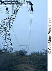 electricity pylon - Low angle view of an electricity pylon