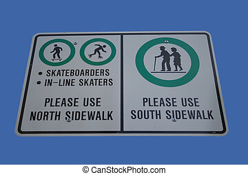 Skaters use north sidewalk