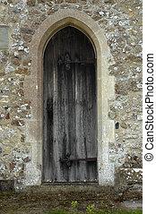 門, 背, 教堂
