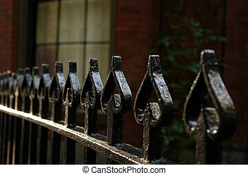 Wrought Iron Fence Of Spades