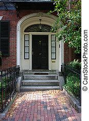 Door Number Thirty Seven Boston - Black door in Boston on a...