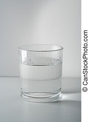 glass with water - simple glass filled with water