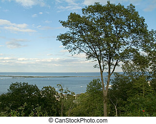 Sandy Hook View - A mountain top view of the Sandy Hook area...