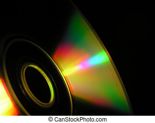 cd-rom - Close-up of cd-rom showing the circular form and...