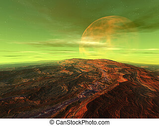 Centauri Moon - 3D rendered Scifi Scenery.