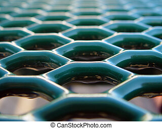 Honeycomb Vanishing Point Two - Green honeycombs vanishing...