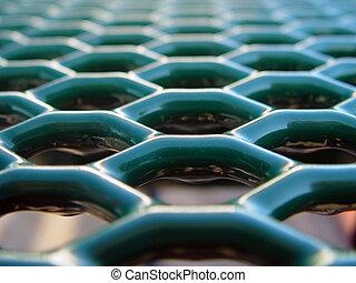 Honeycomb Vanishing Point Two - Green honeycombs vanishing...