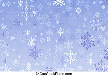 Snowflake Background - Snowflakes of different design and...