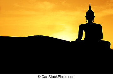 Sunset Buddha - Thai style buddha at sunset