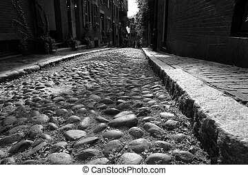 Acorn Street Early America - childs eye view of one of the...