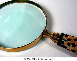 Magnifying Glass - a magnifying glass with a spotted handle