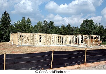 New Home Building - Photographed new home construction in...