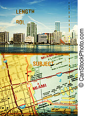 Miami Florida - Media mix of 35 mm strip, photo of the Miami...