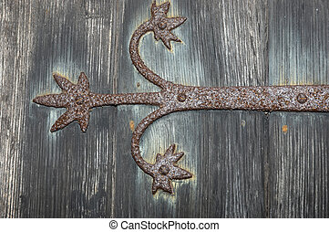 Door hinge - door hinge on a church door