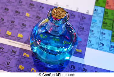 Potion - Photo of Flask on a Periodic Chart - Potion Science...