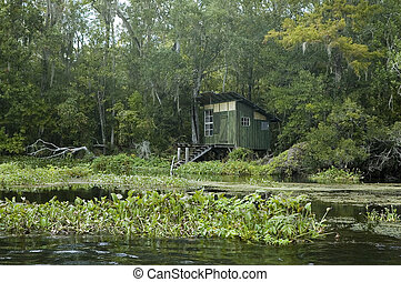 Fishing Shack - An old fishing shack on the St Marks River...