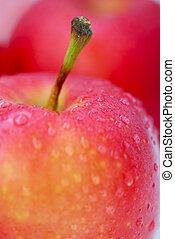 rouges, Pommes, macro