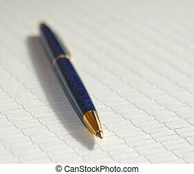 Pen - A pen on a rice paper