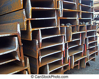 Steel H-beams - Steel Products properly packed and ready to...