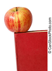 Apple and Book - Red apple on old book