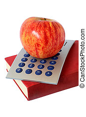 Apple Book and Calculator - Apple book and calculator over...