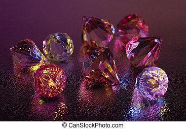 Jewels - Photo of Jewels / Diamonds With Gel Lighting