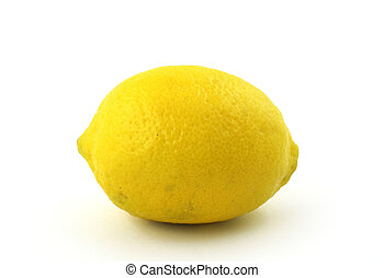 lemon on white