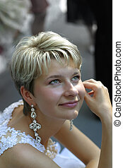 Happy bride - Portrait of the beautiful bride