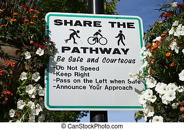 share the pathway sign