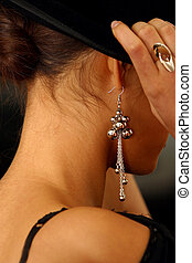 Ear rings - The image of the girl in rings and ear rings...