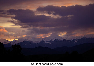 Storm Clouds - Storm clouds gather over the Rocky Mountains...